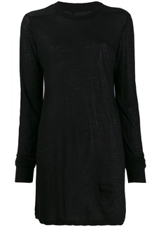 Rick Owens long-line knit top