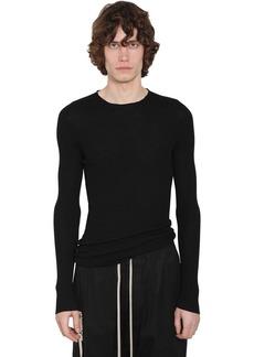 Rick Owens Long Raw Cut Virgin Wool Sweater