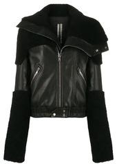 Rick Owens long sleeve contrast panel jacket