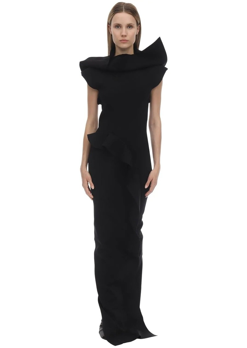 Rick Owens Long Stretch Viscose Blend Knit Dress