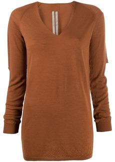 Rick Owens longline knit top