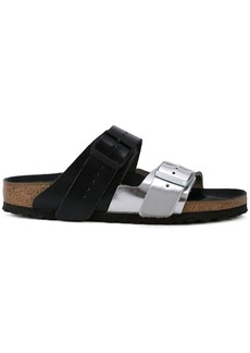 Rick Owens metallic buckle sliders