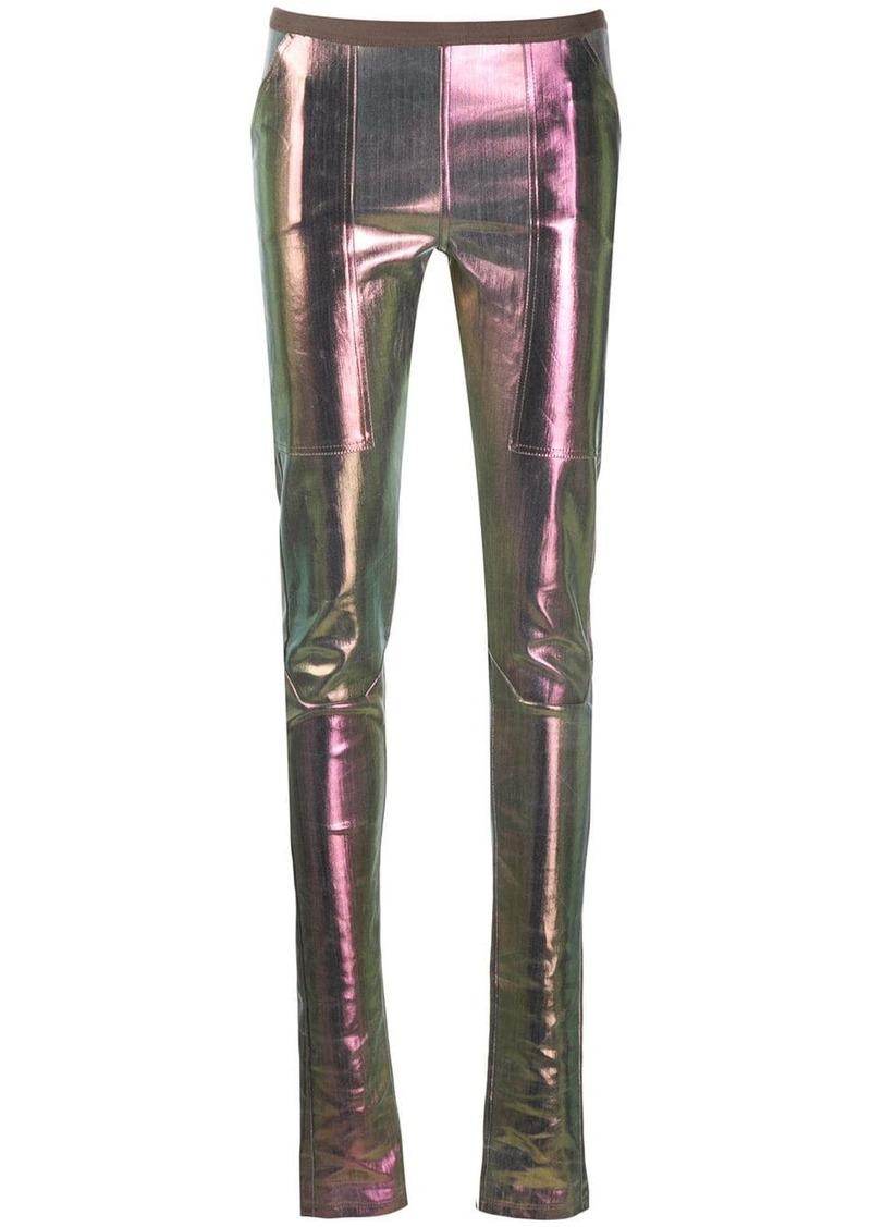 Rick Owens metallic high waisted leggings