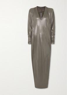 Rick Owens Metallic Jersey Gown
