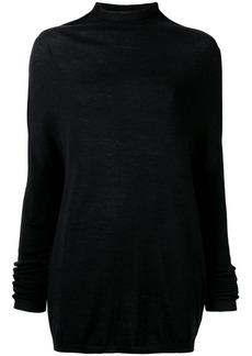 Rick Owens mock neck mid-length sweater