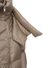 Rick Owens Nylon Puff Down Jacket W/double Collar