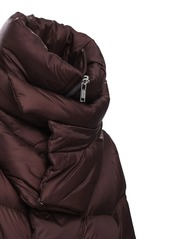 Rick Owens Nylon Down Jacket W/double Collar