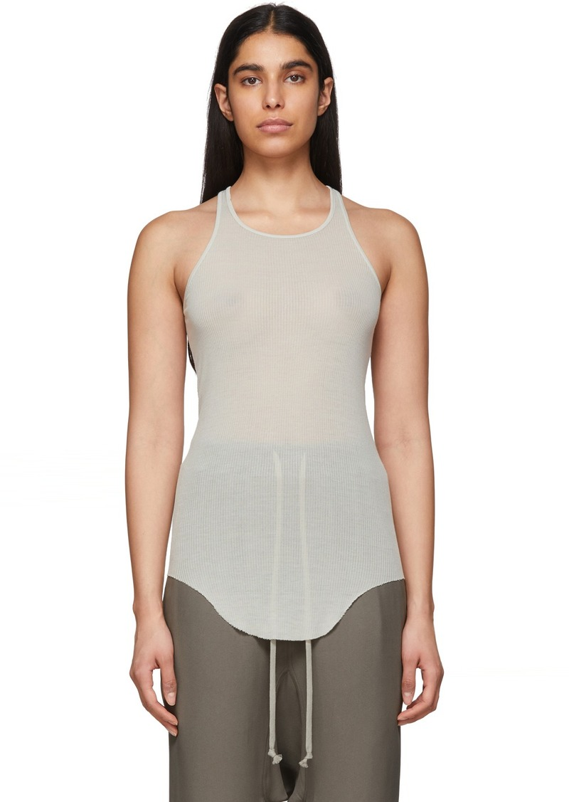 Rick Owens Off-White Basic Rib Tank Top