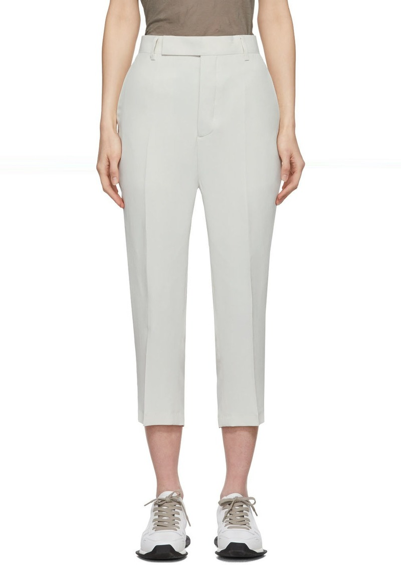 Rick Owens Off-White Easy Astaires Trousers