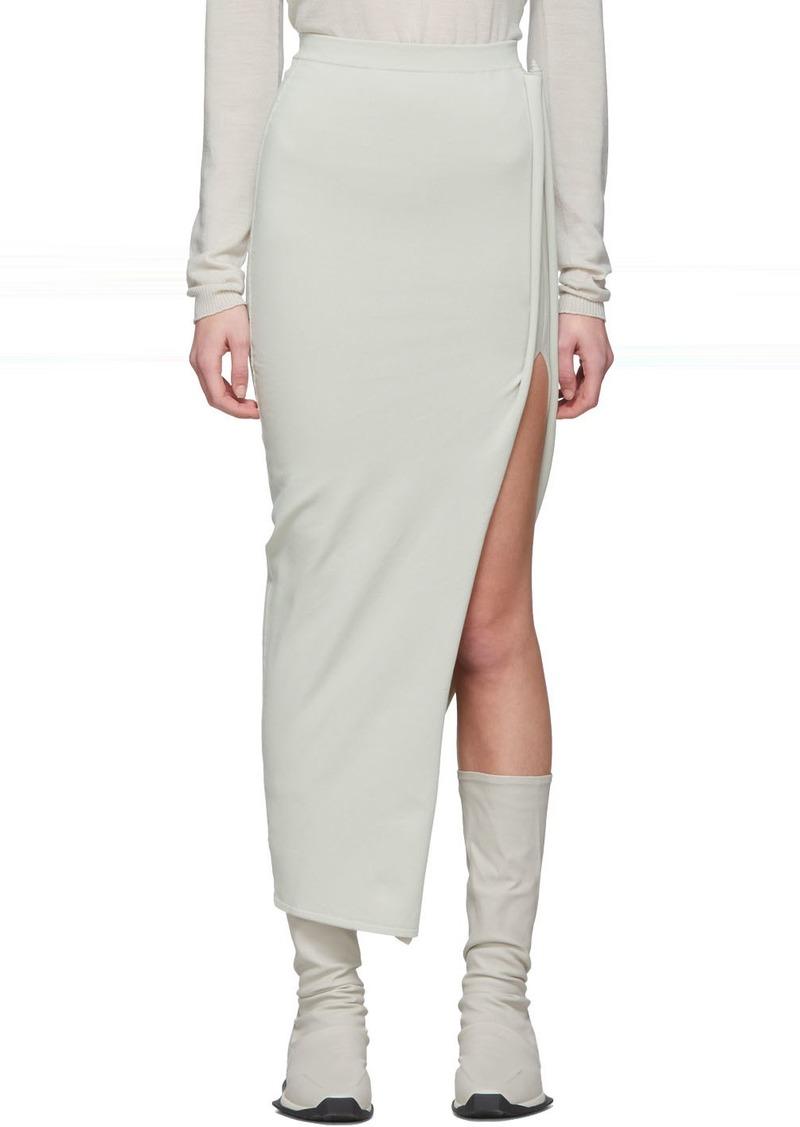 Rick Owens Off-White Stem Skirt