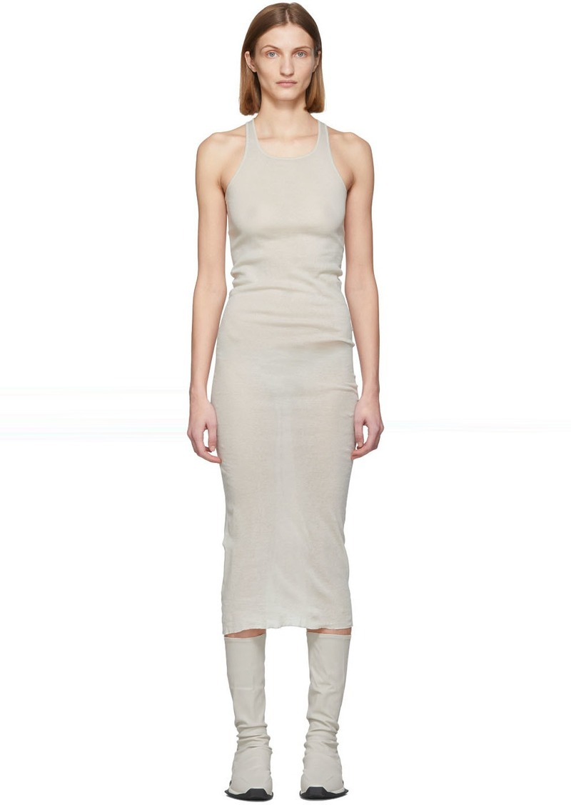 Rick Owens Off-White Tank Dress