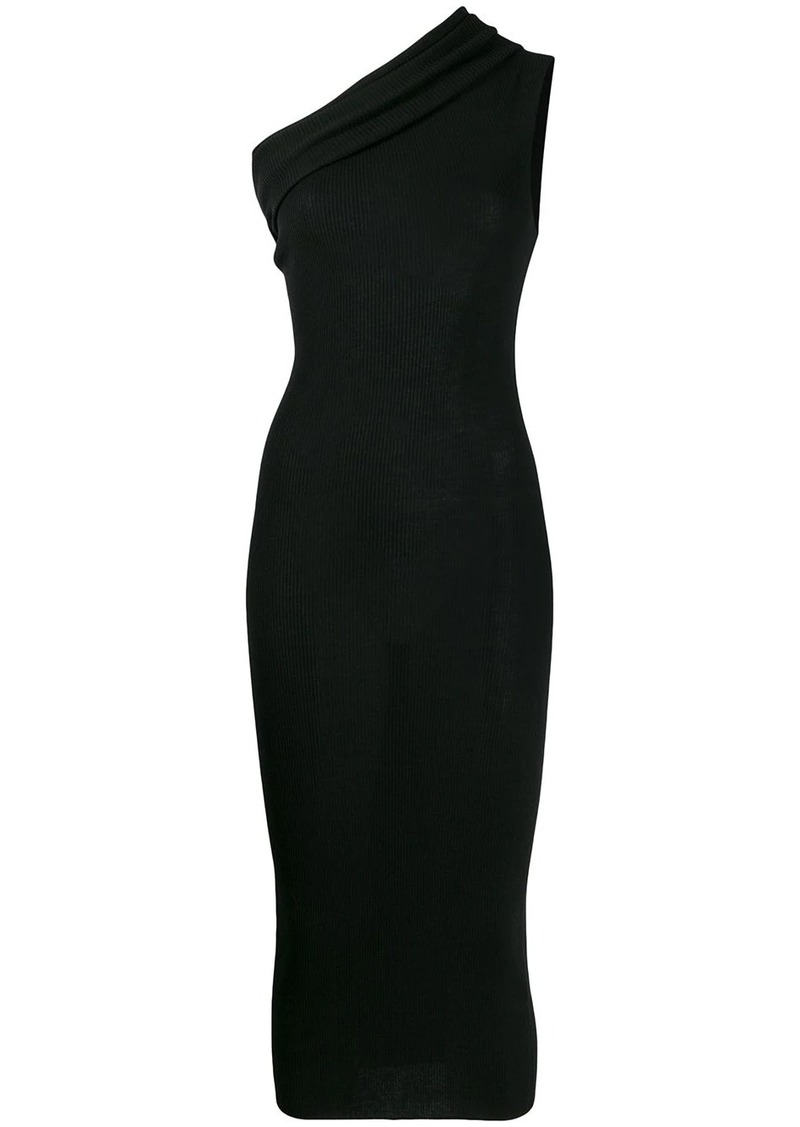 Rick Owens one shoulder knitted dress