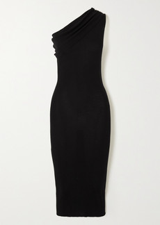 Rick Owens One-shoulder Ribbed Wool Dress