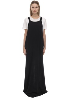 Rick Owens Open Cotton Jersey Tank Dress
