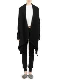 Rick Owens Open-Front Wool Sweater