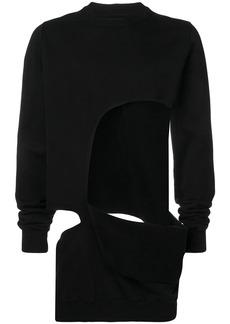 Rick Owens oversized cut-out sweatshirt