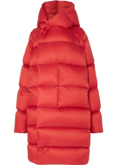 Rick Owens Oversized Hooded Quilted Shell Down Coat