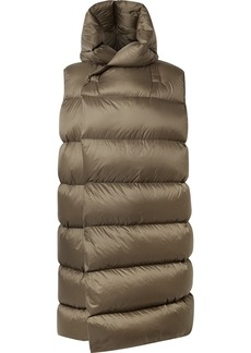 Rick Owens Oversized Hooded Quilted Shell Down Vest