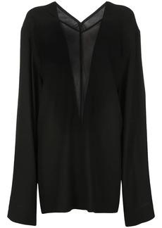 Rick Owens oversized sheer panel blouse