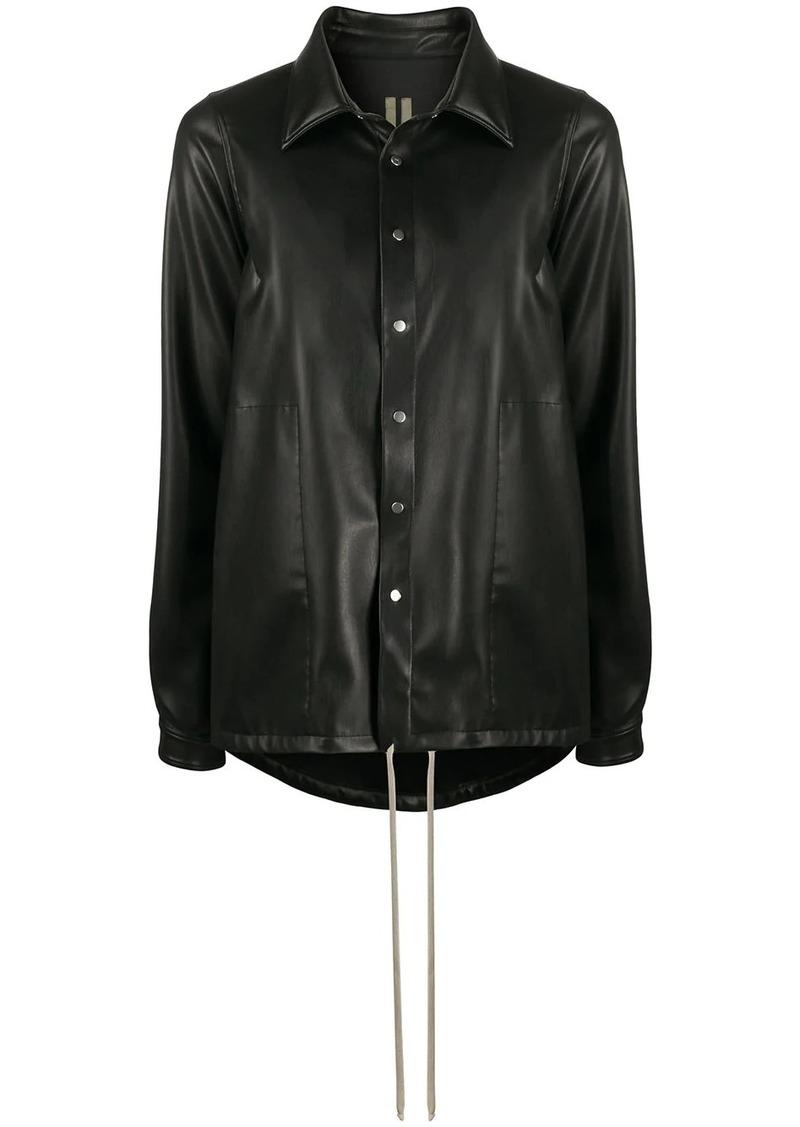Rick Owens oversized textured shirt jacket