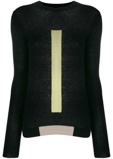 Rick Owens panelled crewneck sweater