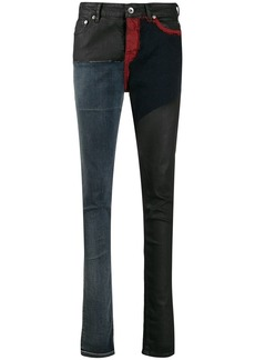 Rick Owens patchwork skinny jeans