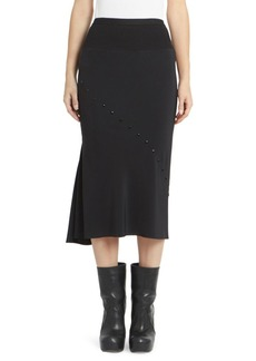 Rick Owens Perforated Asymmetric Skirt
