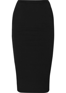Rick Owens Pillar Ruched Cotton-blend Jersey Midi Skirt