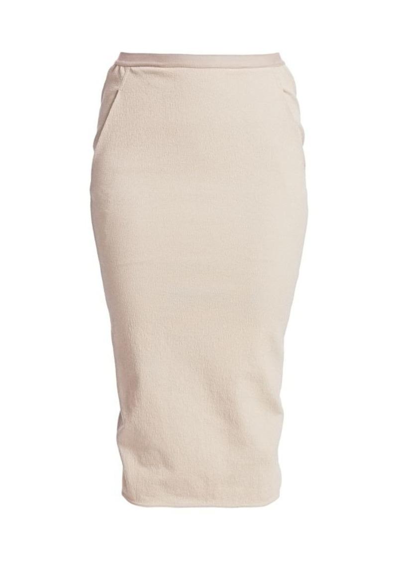 Rick Owens Pillar Soft Stretch Midi Skirt