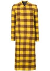Rick Owens plaid coat