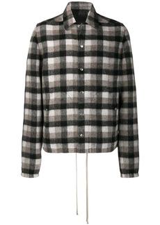 Rick Owens plaid shirt jacket