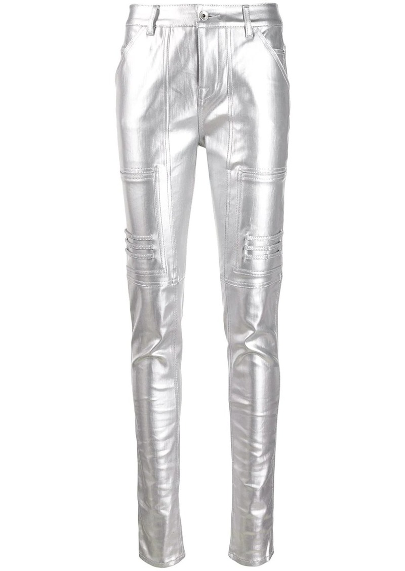 Rick Owens polished effect skinny trousers