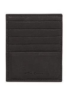Rick Owens Ponyskin & Leather Credit Card Holder