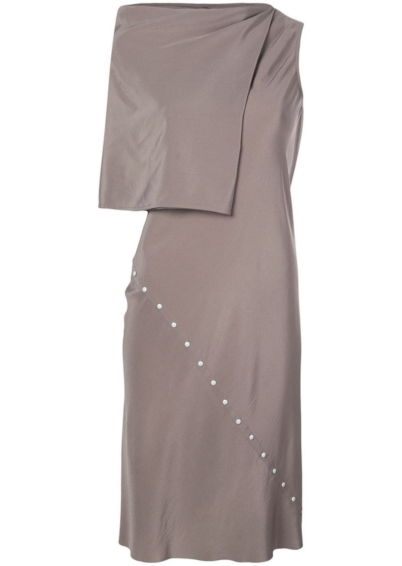 Rick Owens press stud detail dress