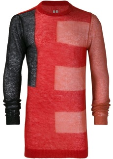 Rick Owens printed longline sweater