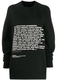 Rick Owens printed sweatshirt