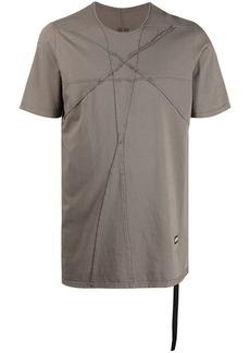Rick Owens raw edge cutout cotton T-shirt