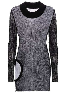 Rick Owens Ribbed-knit longline cotton top