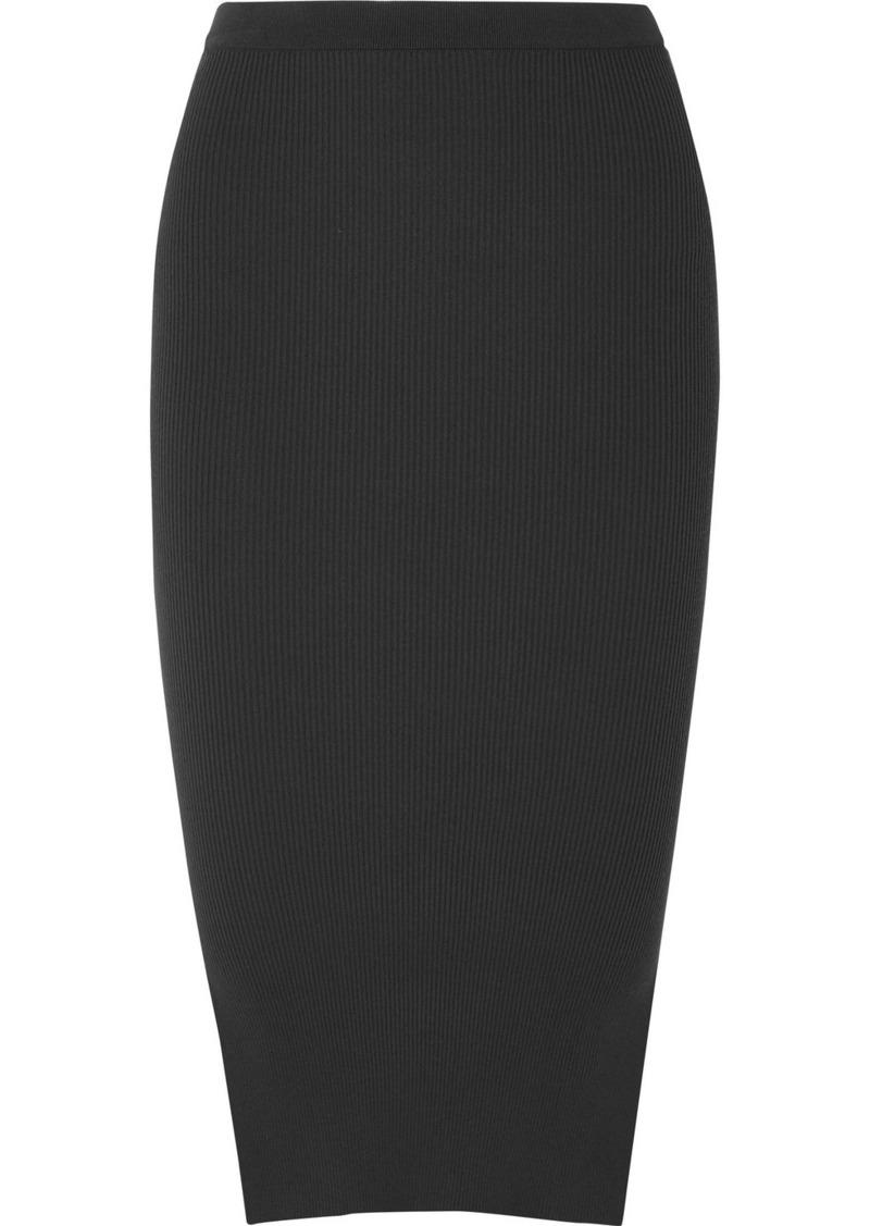Rick Owens Ribbed Stretch-knit Skirt