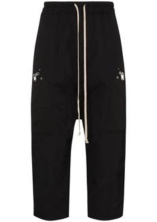 Rick Owens drop-crotch cropped track pants