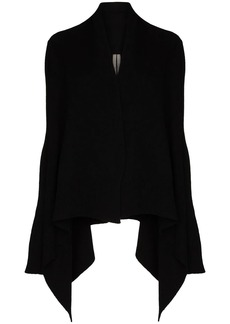 Rick Owens draped cashmere and wool-blend cardigan