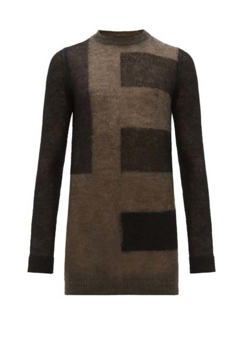 Rick Owens Abstract stripe mohair-blend sweater