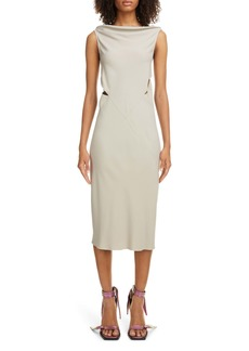 Rick Owens Back Cutout Cady Midi Dress
