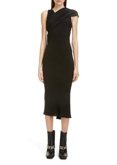 Rick Owens Banana Drape Midi Dress