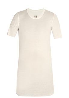 Rick Owens Basic short-sleeved silk-blend T-shirt
