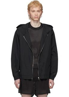 Rick Owens Black Champion Edition Hooded Jacket