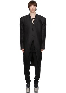 Rick Owens Black Jumbo Tatlin Coat