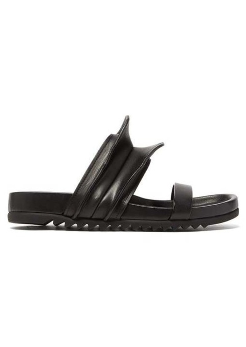 Rick Owens Brancusi sculpted leather slides