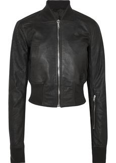 Rick Owens Brushed-leather bomber jacket