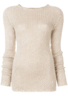 Rick Owens chunky knit sweater - Nude & Neutrals